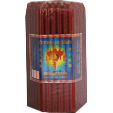 """80.77000 - S.R. CANDLE 3.5"""" RED 100pkg"""